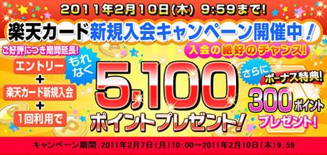 楽天カード期間限定入会キャンペーン