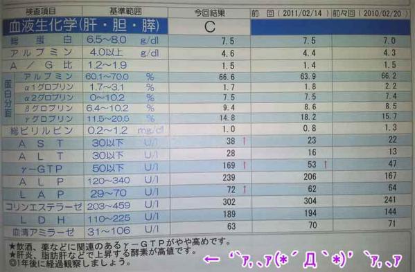 肝・胆・膵数値(クリックで画像を拡大する)
