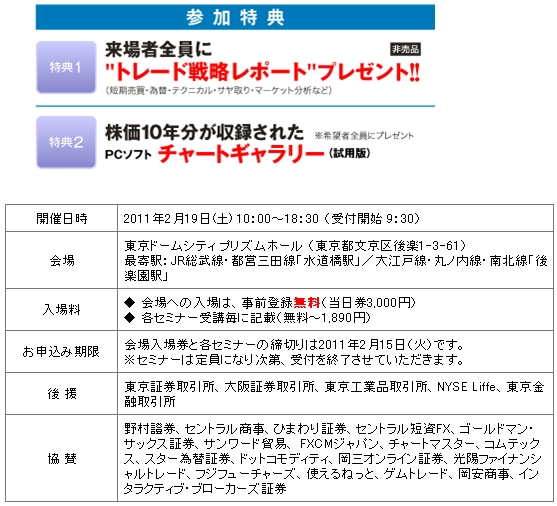 投資戦略フェア2011 会場入場券
