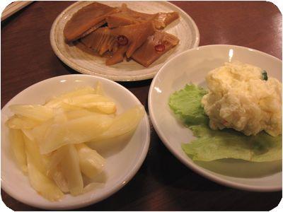 タケノコ・新生姜・ポテトサラダ