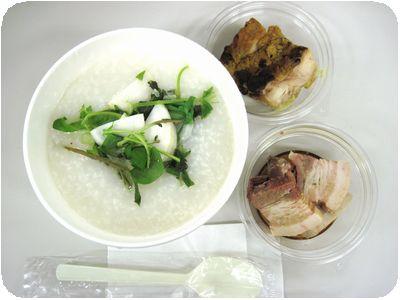 七草粥(+角煮+タンドリーチキン)
