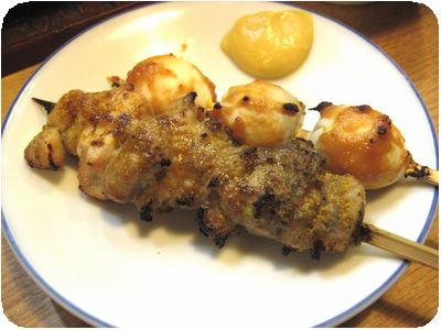焼き鳥カレー焼き・うずらの玉子味噌焼き