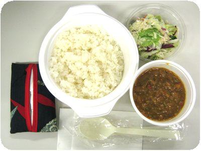 キーマカレー+サラダ