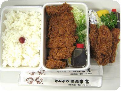 ロースかつ弁当+カキフライ(3粒)