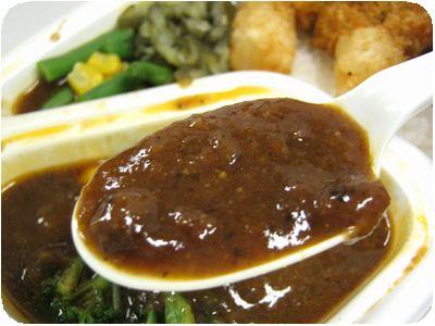 特製ブレンドカレー(大辛)+メンチカツ+温野菜