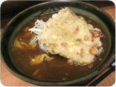 カレー蕎麦+ちくわ天