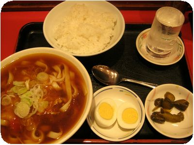 よもだカレーうどんと食後のスープカレーセット