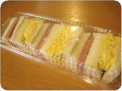 玉子サンド&スパムサンド