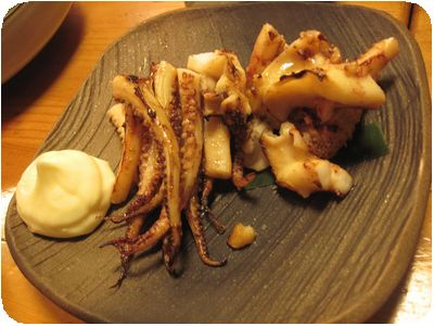 イカゲソ肝醤油焼