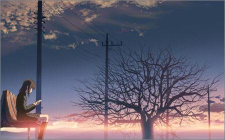 風景の中に女の子が一人だけいる画像