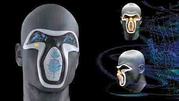 frog Design's electronic facemask