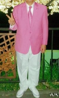 桜色・ピンク色のオーダージャケットメンズ