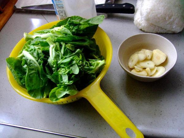 白菜の薹&ニンニク