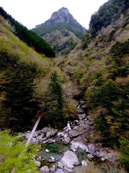 瀬戸川渓谷から西門山