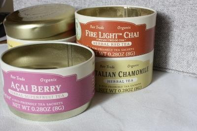 Zhena's Gypsy Tea, Organic 4 Sip Sampler Tins, Caffeine Free, 4 Sachets Per Tin, 0.28 oz (8 g) Each