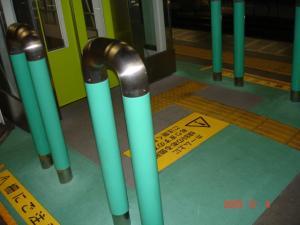 東急東横線自由が丘駅上りホームエレベーター用柵2