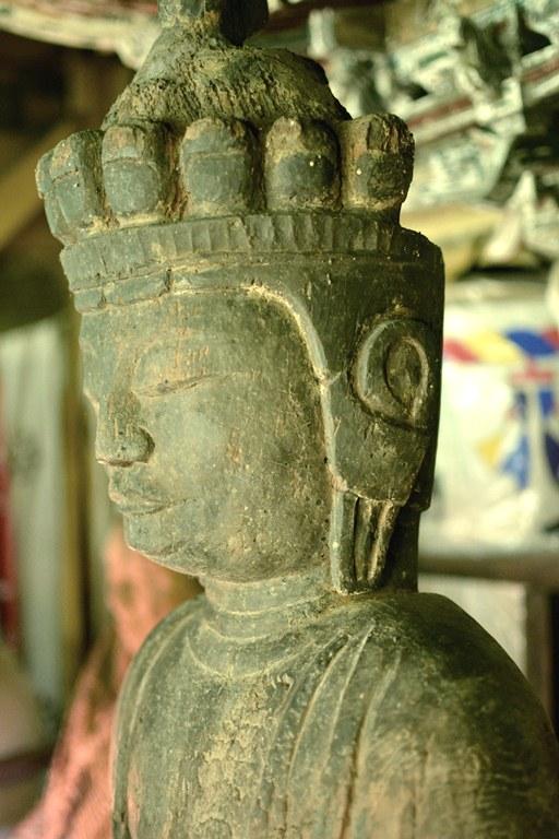 小沼神社・十一面観音像頭部