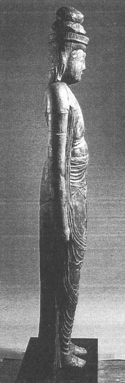 小沼神社・聖観音立像側面