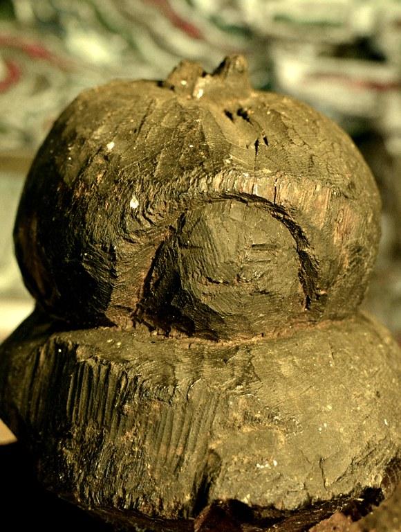 小沼神社・聖観音立像頭頂面