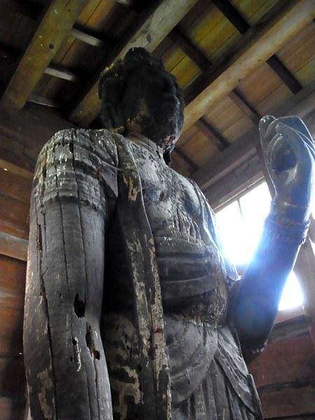 土沢神社・十一面観音像 上半身