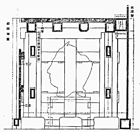 興福寺仏頭発見時の台座内部見取り図