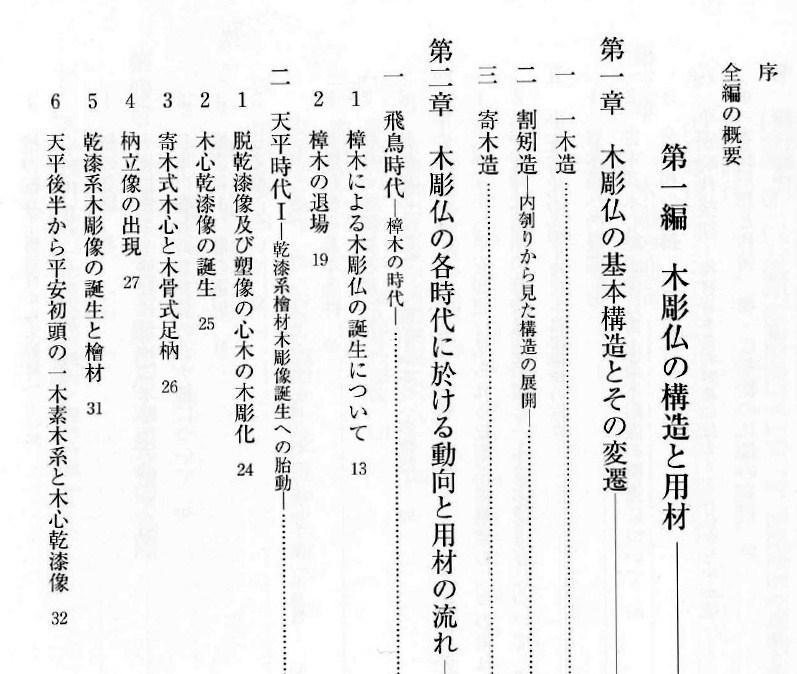 「木彫仏の実像と変遷」詳細目次