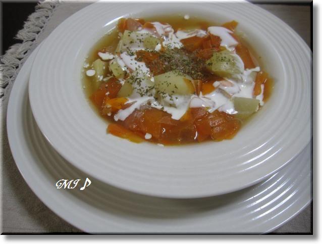 ニンジンたっぷりヘルシー『野菜スープ』