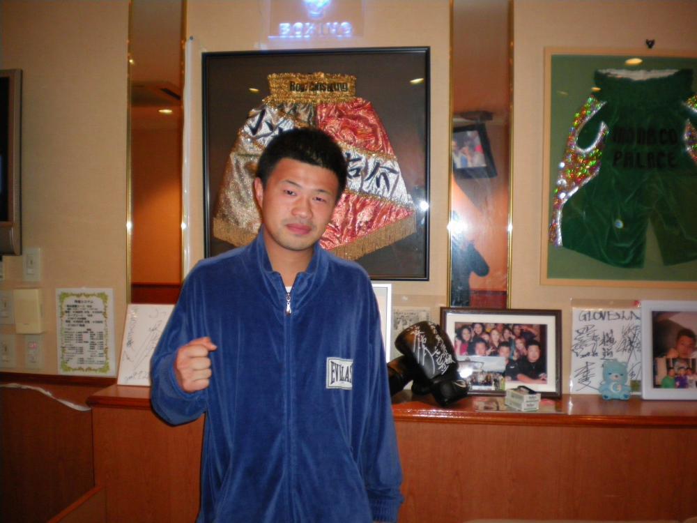 前WBA世界ライト級チャンピオン小堀さんと飲みました(^o^)