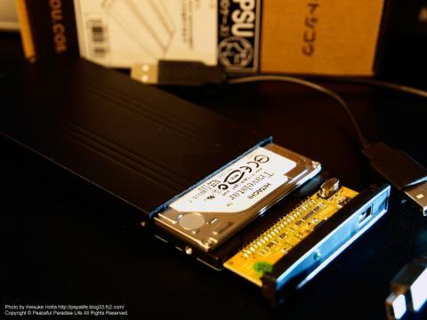 玄人志向 2.5型HDDケース IDE/SATA接続 USB2.0対応 ブラック GW2.5AV-PSU