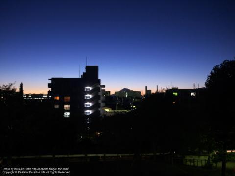 湘南台駅近くの公園から富士山を望む