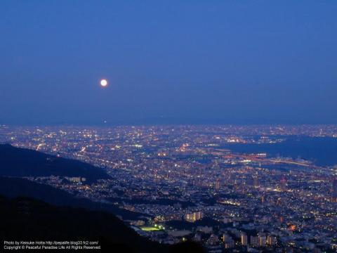 摩耶山掬星台展望台の夜景