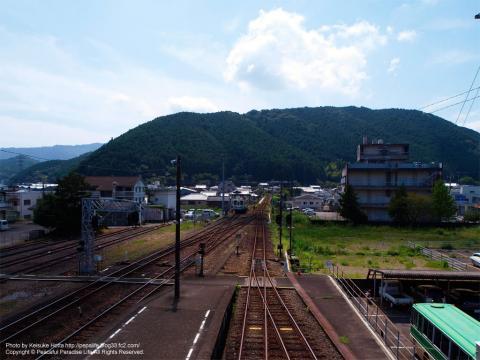 窪川駅の連絡通路からの眺め