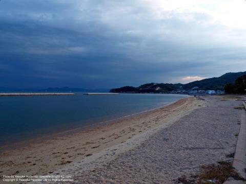 小豆島の砂浜