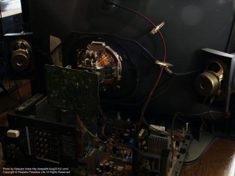 ブラウン管テレビを分解