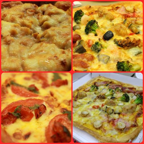 会食のピザ