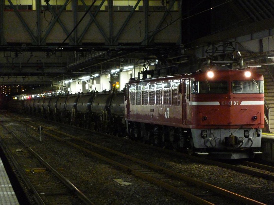 12/24 鉄道撮影記 EF81-87牽引、安中貨物(5781レ)とAT入場