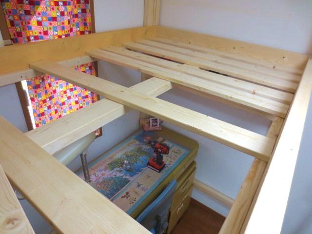 ロフトベッドdiy★ロフト畳ベッド。一句詠みます! 子ども部屋
