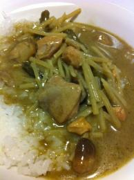 グリーンカレー on the rice