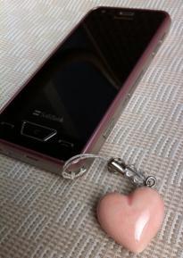 京焼アロマストラップwith携帯