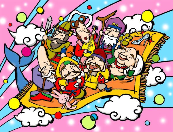 七福神イラスト イラストレーターのアトリエノート
