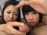 ダブル痴女の淫語チンポイジリ&顔面騎乗!!