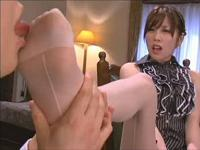 やまぐちりこのパンスト足舐め、パンストセックス やまぐちりこの足裏