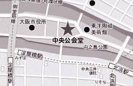 大阪市中央公会堂地図-モノトーン