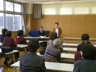 田中学級長のお礼の挨拶・・・