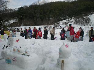 楽しかった雪だるまづくり・・・