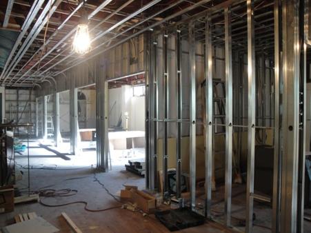 某施設改修工事~2階壁・天井下地