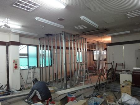 某施設改修工事~内装工事とサッシ改修