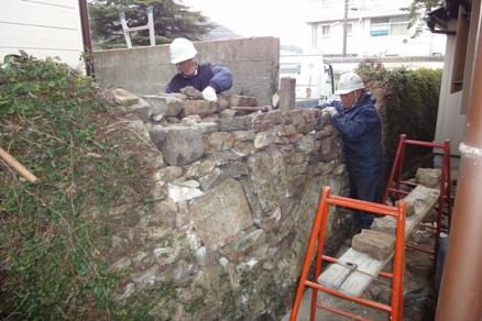 石垣補修 完了