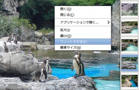 Ristretto Ubuntu 画像ビューア フルスクリーン