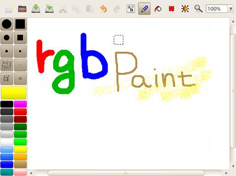 rgbPaint Ubuntu ペイントソフト ブラシで描く